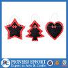 Lavagna d'attaccatura a forma di albero di legno del cuore della stella per l'albero di Natale o la decorazione domestica