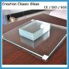 vetro temperato ultra chiaro del vetro float di 4mm per il vetro di vetro/acquazzone della costruzione