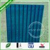 Het blauwe Bendable uv-Met een laag bedekte Holle Blad van PC Multiwall van het Polycarbonaat van het Comité van het Dak