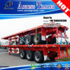 Reboque Flatbed do recipiente do Tri-Eixo 40foot para Togo