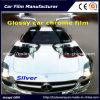 De zilveren Glanzende VinylFilm van de Omslag van de Auto van de Film van het Chroom Vinyl voor Vinyl van de Omslag van de Auto van de Auto het Verpakkende