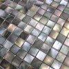Mosaico nacarado del shell del mar de Blacklip para la pared interior en el modelo cuadrado (SMB-001)