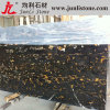 Golden negro Flower Slab Marble para Countertop y Worktop