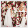 Elegant ein Line Chiffon- Beads Wedding Dress Made in China (XZ572)