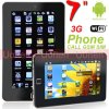 7  PC Phone Calling Function 3G WiFi Camera Touch Panel Android 2.2 4G Tablet