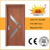 Porte en verre de forces de défense principale de PVC d'intérieur économique d'usine (SC-P057)