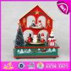 Коробка нот симпатичного милого малыша дома 2015 деревянная, коробка нот рождества популярного деталя деревянная, дешевая игрушка W07b005A нот DIY деревянная вращая