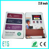 2.8 Inch - hohes Quality LCD Video Greeting Card, Audio Greeting Card