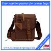 Мешок посыльного Crossbody портфеля стильной холстины реальный кожаный (MSB-003)