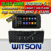 Carro DVD GPS do Android 5.1 de Witson para a classe W204 2007-2011 de Mercedes-Benz C com sustentação do Internet DVR da ROM WiFi 3G do chipset 1080P 16g (A5704)