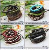 형식 Multilayer Bead Bracelet Wholesale, Mens를 위한 Rope Braided Bracelet