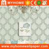 Papier peint à la maison de plafond de décor avec la fleur de damassé