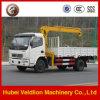 Dongfengのトラックによって取付けられるクレーン小型3-4トンの
