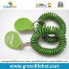 Зеленая люкс бирка логоса диапазона W/Split Ring&Rubber планки запястья руки