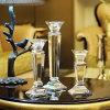 Castiçal de cristal, decoração européia da HOME do estilo, suporte de vela Wedding