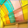 화재 Retardancy 4mm Colored Particle Embossed Polycarbonate Panel