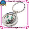 Porte-clés en métal avec le cadeau du football 3D