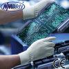 Перчатка покрытия PU работы безопасности Nmsafety белая Nylon