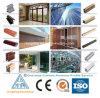 6063 profils en aluminium anodisés pour tout le guichet en aluminium aimable