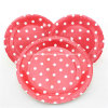 Fábrica Supply Red Polka DOT Disposable Paper Plates para Party