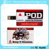 Movimentação popular mundial do USB do cartão de crédito 16GB com logotipo (ZYF1831)