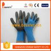 Голубое Nylon с Black Nitrile Glove-Dnn816
