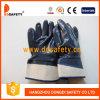Голубая перчатка Dcn308 работы нитрила польностью окунутая