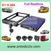 4 Channel SD Card Mobile DVR para veículos, H. 264 D1 Mini Mobile 4CH Car DVR Recorder com GPS
