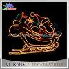 2D Luzes felizes do motivo da corda do Natal de Papai Noel do Feliz Natal do motivo do diodo emissor de luz