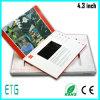 A5パンフレット4.3のインチTFT LCDのビデオ挨拶状、LCDのビデオカード、ビデオパンフレット