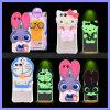 Cassa animale sveglia luminosa del telefono mobile del gatto 3D del coniglio dell'orso del coperchio di casi lampeggiante di chiamate del silicone per il iPhone 6s più