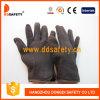 Gant rouge Dcd109 de sûreté de doublure d'ouatine de Brown Jersey