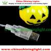 Luces del USB de la decoración de Víspera de Todos los Santos de la calabaza