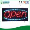 Sinal de anúncio aberto do diodo emissor de luz