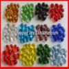 Perles de verre décoratives colorées