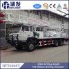 트럭에 의하여 거치되는 우물 드릴링 리그 (HFT600ST)
