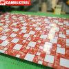 Hoja de acero galvanizada grabada colorida del buen precio