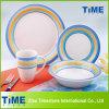 19PC Stoneware Handpainted Dinner Set (619001)