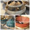 Piezas de la trituradora del cono del manganeso de la calidad para la exportación