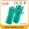 De groene Handschoenen van het Werk van de Hand van het Lassen van de Bedrijfsveiligheid van het Leer van de Zweep Gespleten (111031)