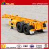 タンデム2 Axles 20ft Container Transport Skeleton Semi Trailer