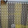 Rideau en aluminium décoratif en mouche pour la porte
