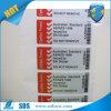 Anti-diefstal Zelfklevende Sticker/de Sticker van de Verbinding van de Veiligheid