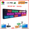 40X9インチフルカラーRGB LEDの印の無線電信およびUSBのプログラム可能な圧延情報P6屋内LED表示スクリーン