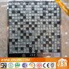15X15mmの冷たいスプレー、大理石(M815045)が付いている白黒ガラスモザイク