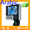 8  Access Control (HF iClock 2500)를 가진 TFT Touch Screen 아랍 Finger Time Attendance Equipment