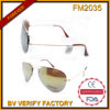 Glaces de Sun de pilote en métal d'usine de FM2035 Whloesale Chine
