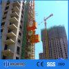 Fábrica Sc100/100, elevador de la construcción 2*1000kg (2t)/elevador del pasajero/alzamiento del edificio/CE doble de China de la jaula. GOST. ISO más segura