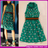 Новое платье печати зеленого цвета зонтика способа Arriver 2014