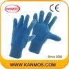 ПВХ пунктир Промышленные синий Джерси Хлопок работы перчатки (41010)